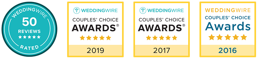 WeddingWire Ratings and Awards badge